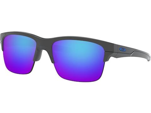 Oakley Thinlink Sunglasses Dary Gray Frame/Sapphire Iridium Lens