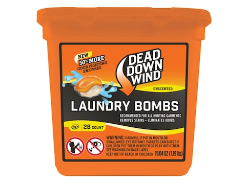 Dead Down Wind Laundry Bombs Scent Elimination Soap Pack of 28