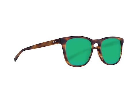 Costa Del Mar Sullivan Polarized Sunglasses Matte Tortoise Frame/Green Mirror Glass Lens