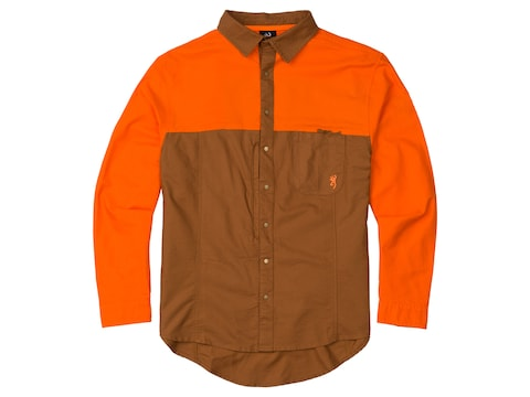 Browning Men's Midweight Upland Long Sleeve Shirt Cotton