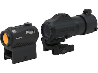 Sig Sauer ROMEO5 / JULIET3 Red Dot Sight / Maginfier Kit 1x 2 MOA Dot Reticle with 3x 24mm Magnifier Powercam Quick-Release Mount Black