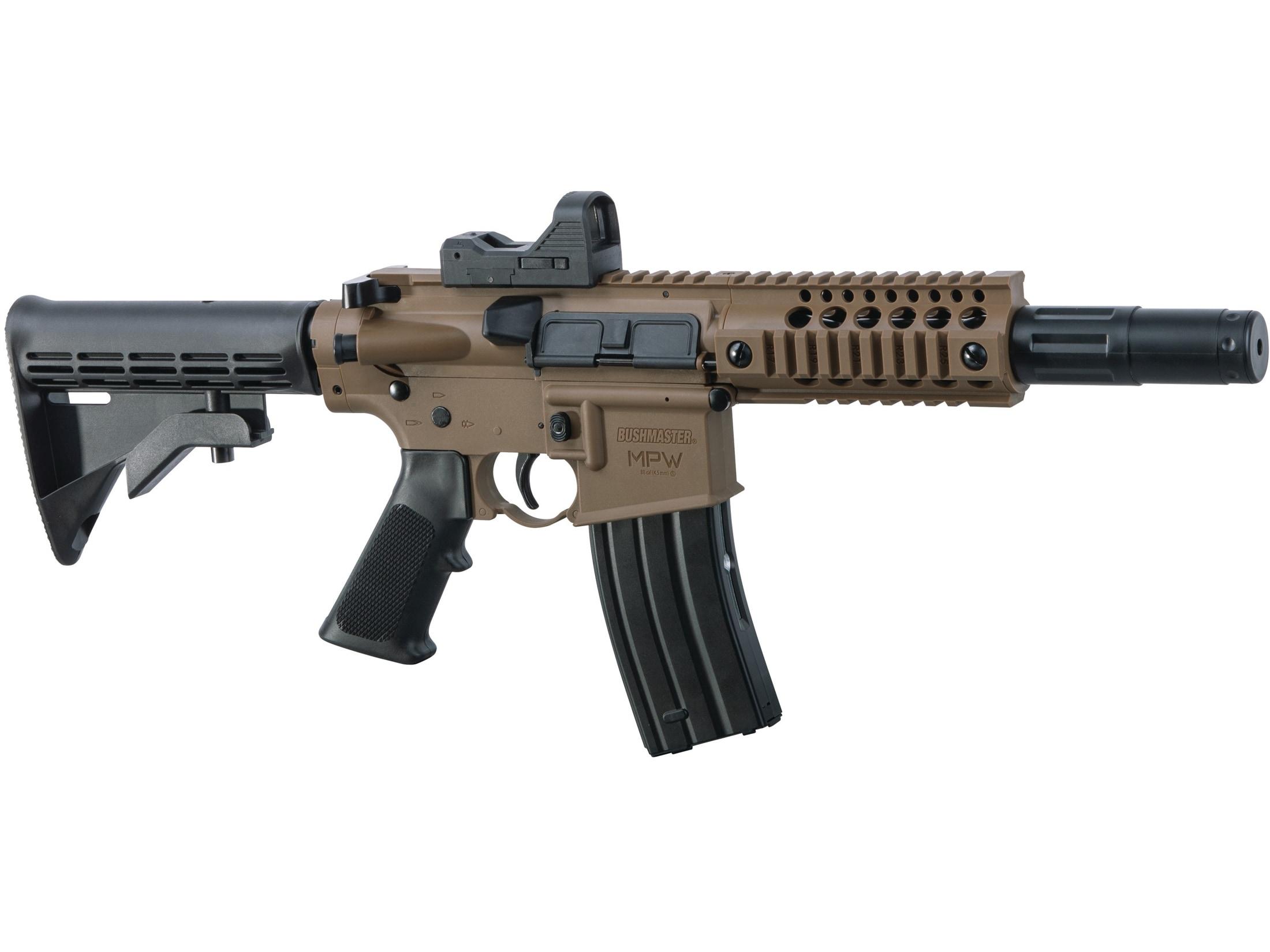 Bushmaster MPW Full Auto CO2 177 Cal BB Air Rifle Red Dot