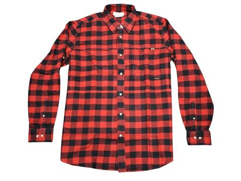 Beretta Men's Wood Flannel Overshirt Long Sleeve Cotton