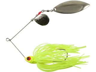 Northland Reed-Runner Classic Tandem Spinnerbait 1/4oz Canary Nickel