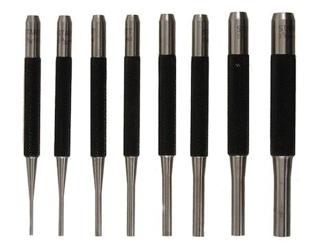 Starrett Drive Pin Punch Set 8-Piece Steel