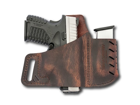 Versacarry Commander Holster Right Hand with Magazine Pouch Leather Brown