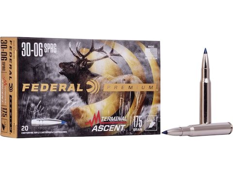 Federal Premium Terminal Ascent Ammunition 30-06 Springfield 175 Grain Polymer Tip Bond...