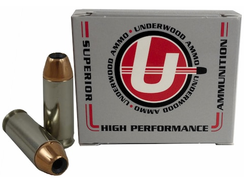 Underwood Ammunition 10mm Auto 200 Grain Jacketed Hollow Point Box of 20