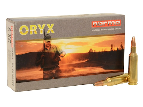 Norma American PH Ammunition 6mm XC 100 Grain Oryx Protected Point Box of 20