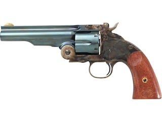 "Taylor's & Co Second Model Schofield Single Action Revolver 45 Colt (Long Colt) 7"" Charcoal Blue Barrel Case Hardened Steel Frame Walnut Grips 6 Round"