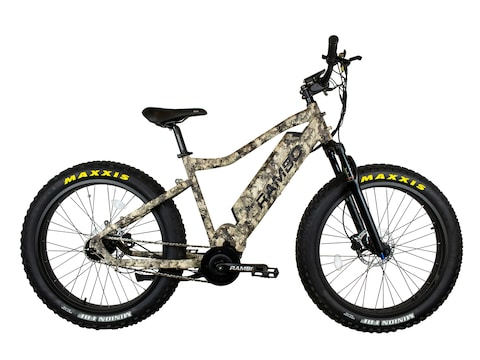 Rambo Bikes Bushwacker 750W Xtreme Performance Electric Bike TrueTimber Viper Western Camo