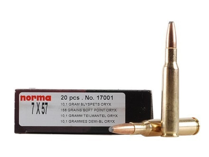 Norma Ammo 7x57mm Mauser (7mm Mauser) 156 Grain Oryx