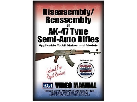"American Gunsmithing Institute (AGI) Disassembly and Reassembly Course Video ""AKS, MAK9..."
