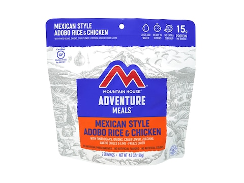 Mountain House Mexican Style Adobo Rice & Chicken Gluten Free Freeze Dried Food 2 Serving