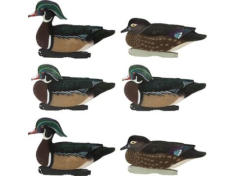 GHG FFD Pro-Grade Elite Wood Duck Decoy Pack of 6