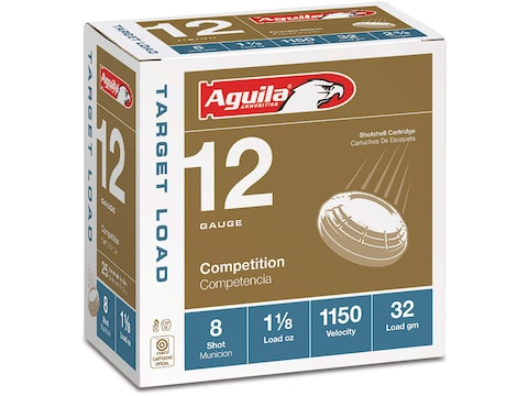 "Aguila Competition Light Target Load Ammunition 12 Gauge 2-3/4"" 1-1/8 oz"