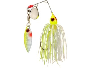 Strike King Mini-King Red Eyed Tandem Spinnerbait 1/8oz Chartreuse/White Silver/Chart