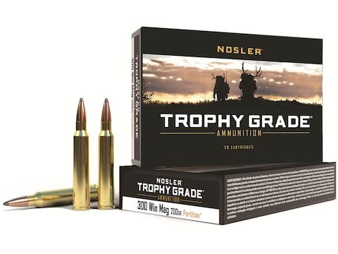 Nosler Trophy Grade Ammunition 300 Winchester Magnum 200 Grain Partition Box of 20