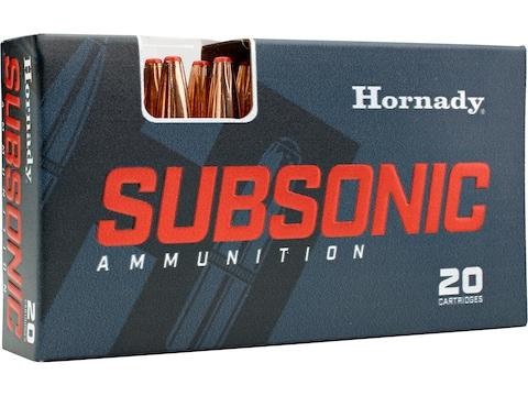 Hornady Subsonic Ammunition 450 Bushmaster 395 Grain SUB-X FTX Box of 20