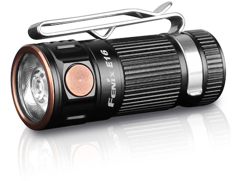 Fenix E16 Flashlight LED Requires 1 CR123A or 1 16340 Rechargeable Battery Aluminum Black