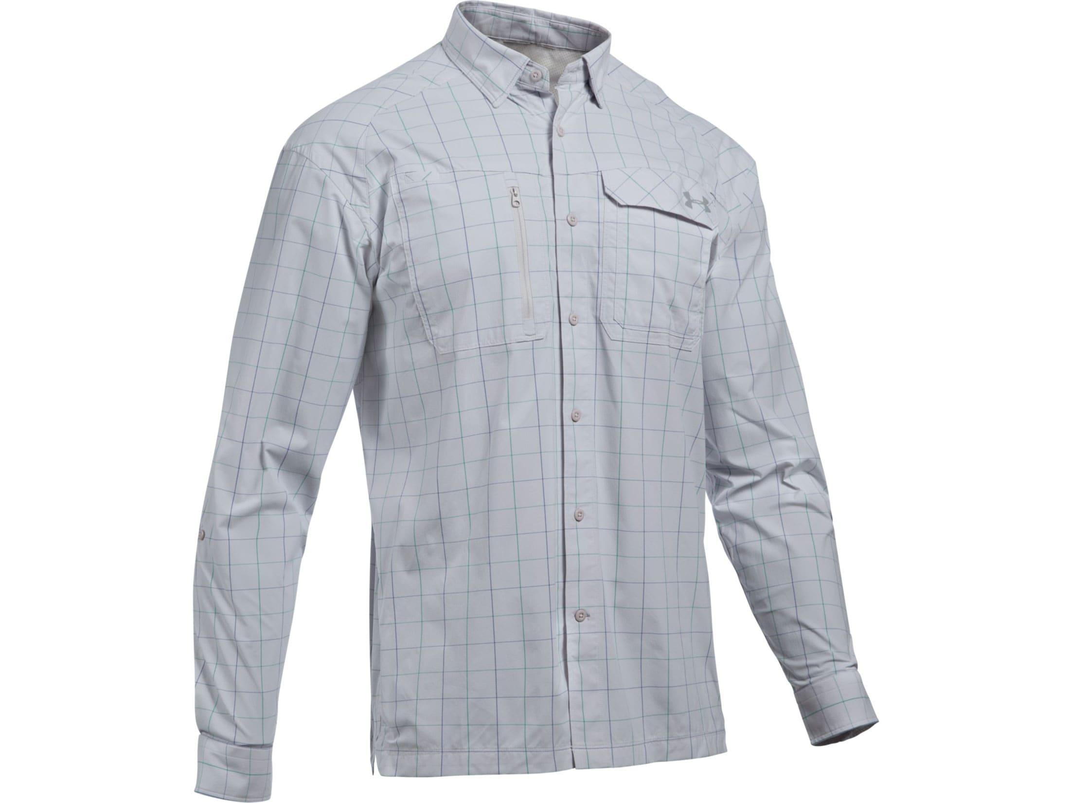 a8de816806 Under Armour Men's UA Fish Hunter Plaid Button-Up Shirt Long Sleeve