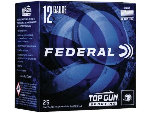"Federal Top Gun Sporting Ammunition 12 Gauge 2-3/4"" 1 oz"