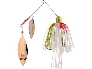 Strike King KVD Finesse Double Willow Spinnerbait 1/2oz TN Shad Nickel/Gold