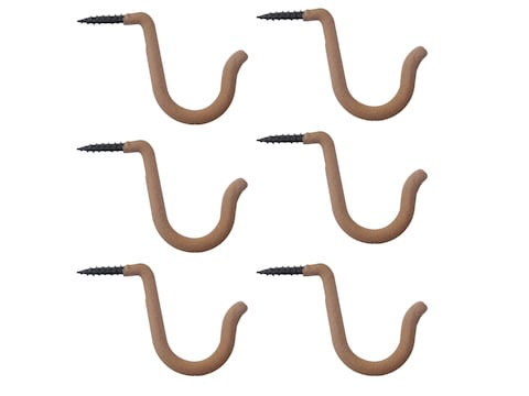 HME Accessory Hanger Steel Brown Pack of 6