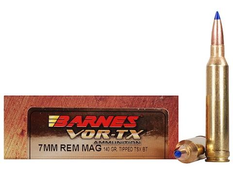 Barnes VOR-TX Ammunition 7mm Remington Magnum 140 Grain TTSX Polymer Tipped Spitzer Boa...