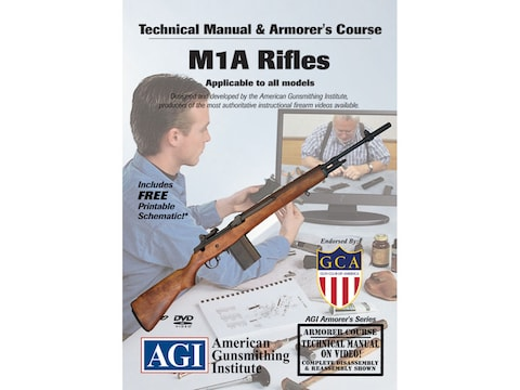 "American Gunsmithing Institute (AGI) Technical Manual & Armorer's Course Video ""M1A Rif..."