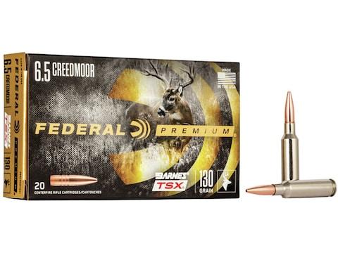 Federal Premium Ammunition 6.5 Creedmoor 130 Grain Barnes TSX