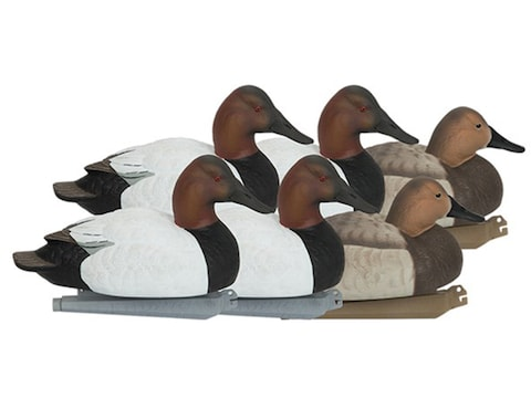 GHG Foam Filled Pro-Grade Canvasback Duck Decoy Pack of 6