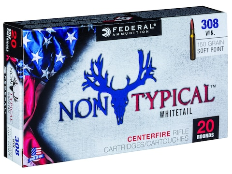Federal Non-Typical Ammunition 308 Winchester 150 Grain Soft Point Box of 20