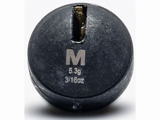 Mustad Round Weight 3/16oz Tungsten Black 3Pk