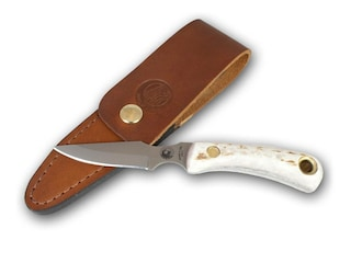 """Knives of Alaska Cub Bear Fixed Blade Knife 2.75"""" Drop Point D2 Tool Steel Blade Stag Handle"""