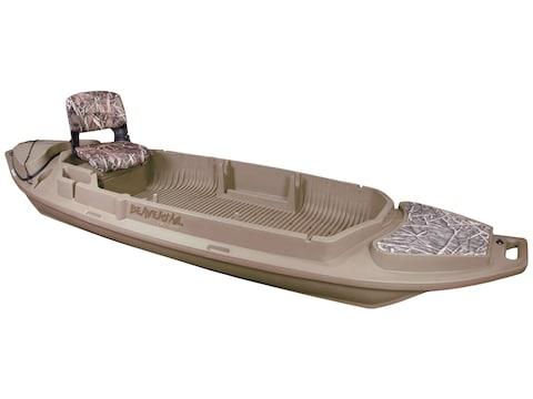 Beavertail Stealth 2000 Twin Gun 12' Sneak Boat Marsh Brown