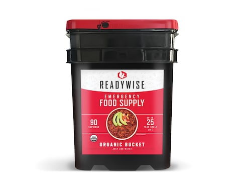 ReadyWise Organic Bucket Freeze Dried Food 90 Serving