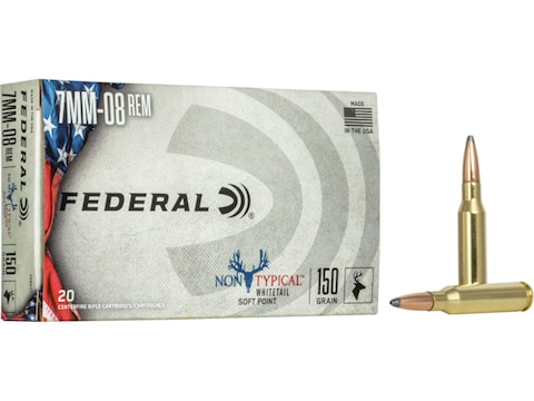 Federal Factory Second Non-Typical Ammunition 7mm-08 Remington 150 Grain Speer Hot-Cor ...