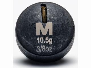 Mustad Round Weight 3/8oz Tungsten Black 3Pk