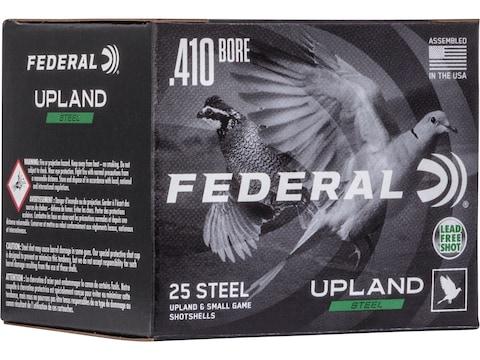 "Federal Upland Steel Ammunition 410 Bore 3"" 3/8 oz Non-Toxic Steel Shot"