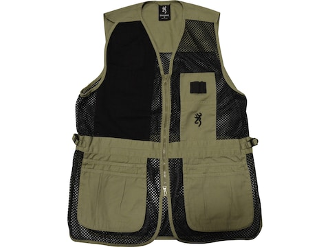 Browning Men's Trapper Creek Mesh Shooting Vest Right Handed Polyester/Cotton