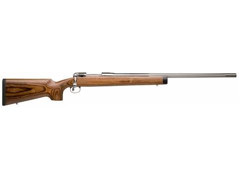 "Savage 12 BVSS Varmint Rifle 26"" Fluted Barrel Stainless, Brown Laminate"