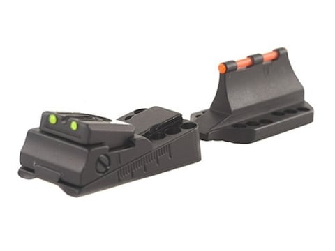 "Williams Fire Sight Set Universal Vent Rib ""Slugger"" Shotgun Aluminum Black Fiber Optic..."