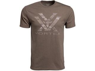 Vortex Optics Men's Camo Logo Short Sleeve T-Shirt Cotton/Poly Brown Heather Medium
