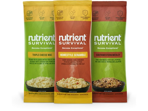 Nutrient Survival Entrée Variety Pack Freeze Dried Food 3 Serving