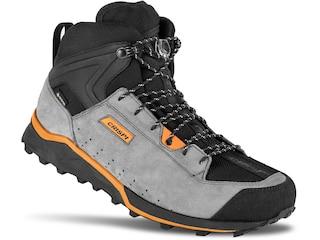 Crispi Attiva Mid GTX Hiking Boots Suede/Synthetic Gray/Orange Men's 8 D