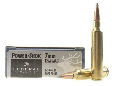 Federal Power-Shok Ammunition 7mm Remington Magnum 175 Grain Soft Point Box of 20
