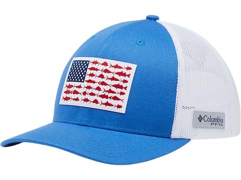 Columbia Men's PFG Mesh Snap Back Fish Flag Cap