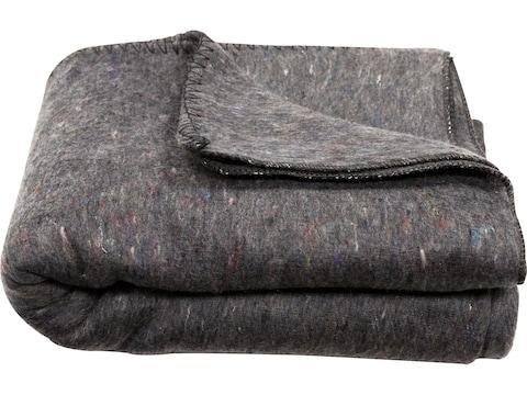 "Military Surplus Bulgarian Blanket Grade 2 Gray 80"" x 62"""