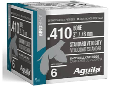 "Aguila High Velocity Game Load Ammunition 410 Bore 3"" 11/16 oz"